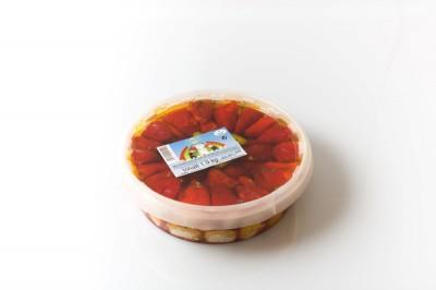 Glocken Paprika Rot mit Käse   Artikelnummer4250122401100 Verpackungseinheit1,9 kg