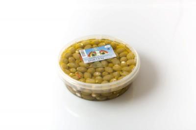 Grüne Oliven mit Käse   Artikelnummer42501222401032 Verpackungseinheit1,9 kg