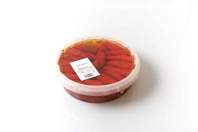 Paprika Rot mit Käse   Artikelnummer 4250122401070 Verpackungseinheit1,9 kg