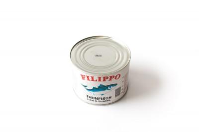 Eingelegte Thunfischstücke in Pflanzenöl   Artikelnummer4007415011900 Verpackungseinheit1,705 kg