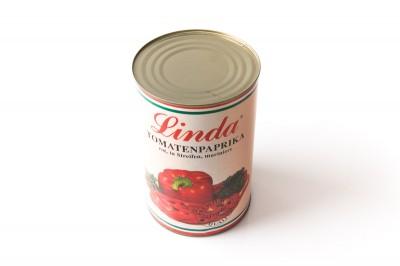 Eingelegte Tomatenpaprika in Streifen Rot,Gelb,Grün   Artikelnummer4037596238100 Verpackungseinheit4,2 kg