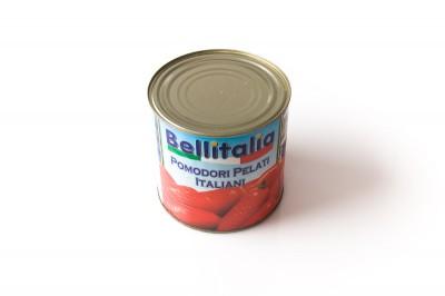 Geschälte Tomaten in Fruchtwasser   Artikelnummer8003635250125 Verpackungseinheit2,550 kg