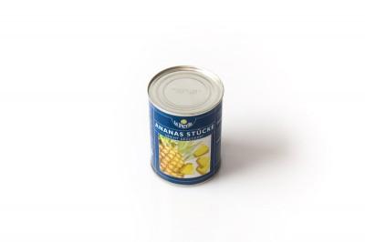 Eingelegte La Perla Ananas Stücke   Artikelnummer4006795361063 Verpackungseinheit565 g