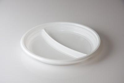 Plastiktellerin 2 Geteilt Mikrowellengeeignet   Artikelnummer Verpackungseinheit 100 stk